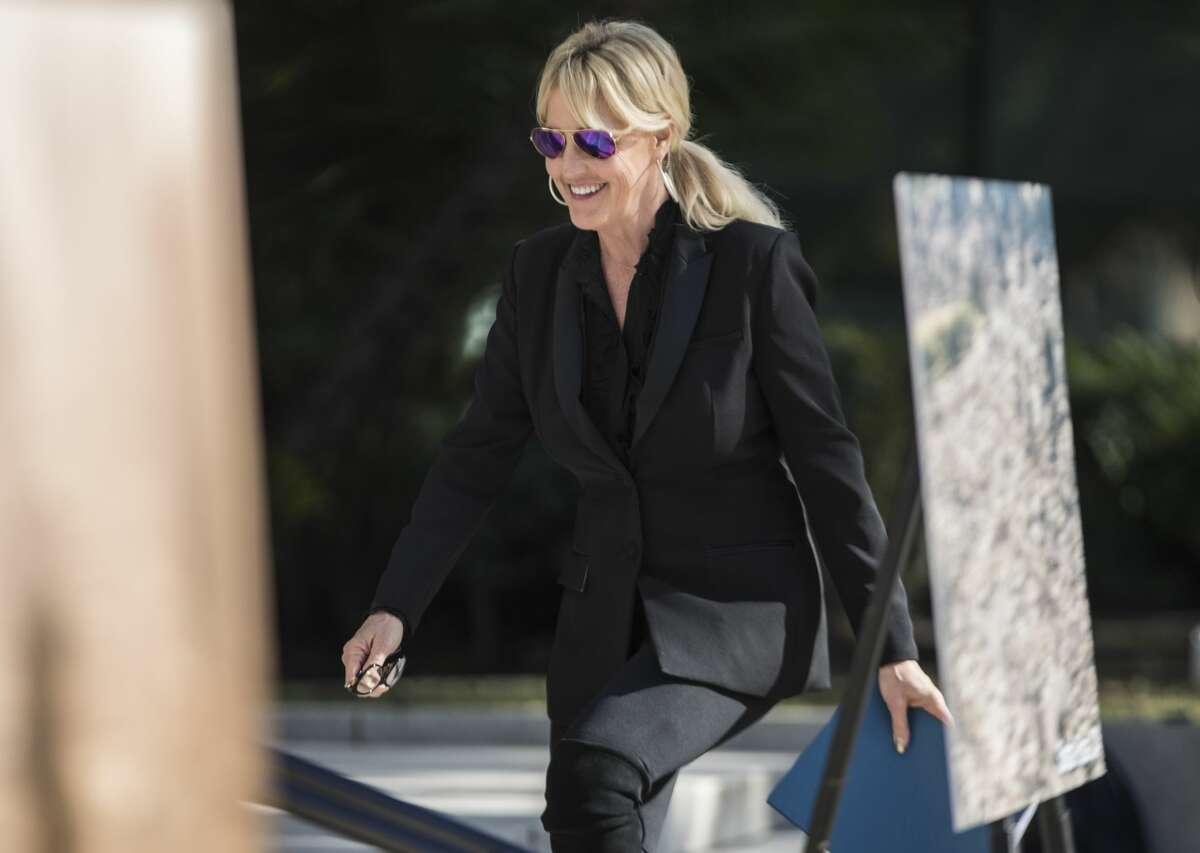 Activist Erin Brockovich at a rally for PG&E accountability in Sacramento, Calif. Tuesday, Jan. 22, 2019. Brockovich will speak at a town hall in Houston regarding a cancer cluster found in a north Houston neighborhood Tuesday night.