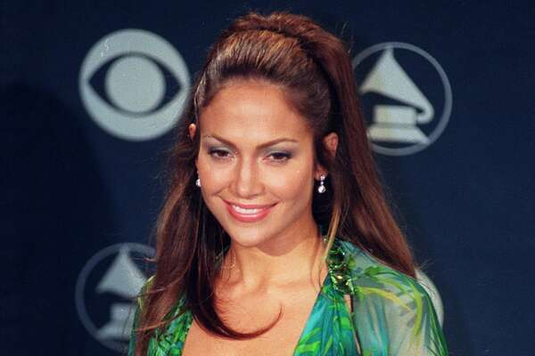 Jennifer Lopez at the 42nd Grammy Awards at the Staples Center on Feb. 23, 2000 in Los Angeles, Calif. (Photo by Kirby Lee/WireImage)