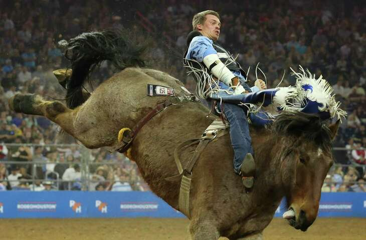 Bull rider Orin Larsen is one of the champion cowboys expected to compete in this year's San Antonio Rodeo.