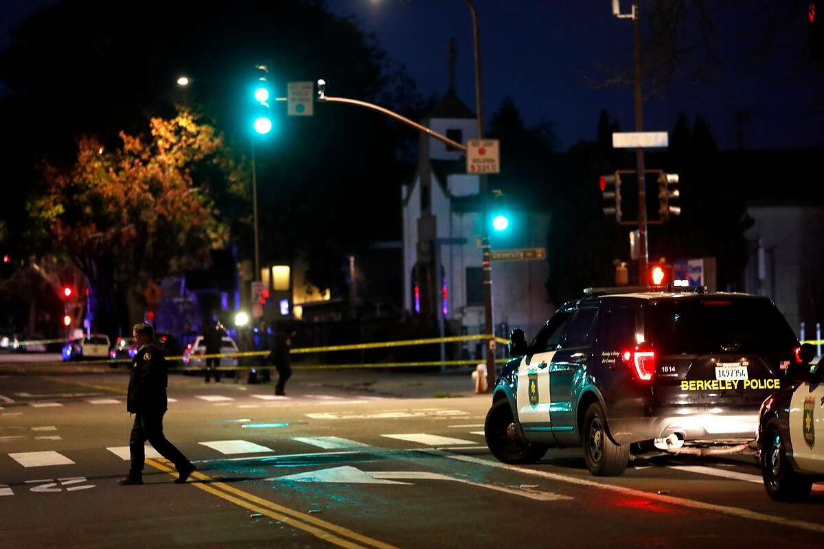 Scene of fatal hit and run at University and Sixth in Berkeley, Calif., on Monday, January 20, 2020.