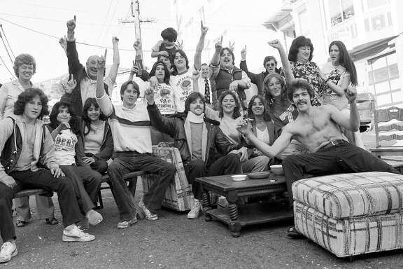 Jan. 24, 1982: San Francisco 49ers fans throw a party on Douglass Street in the city, watching their team win Super Bowl XVI.
