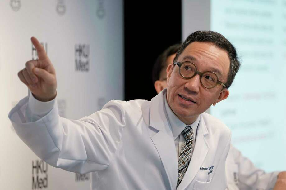 Professor Gabriel Leung, Founding Director of the WHO Collaborating Centre for Infectious Disease Epidemiology and Control, speaks during a news conference on the Wuhan coronavirus outbreak, in Hong Kong, Tuesday, Jan. 21, 2020. A fourth person has died in an outbreak of a new coronavirus in China, authorities said Tuesday, as more places stepped up medical screening of travelers from the country as it enters its busiest travel period. Photo: Kin Cheung, AP / Copyright 2018 The Associated Press. All rights reserved