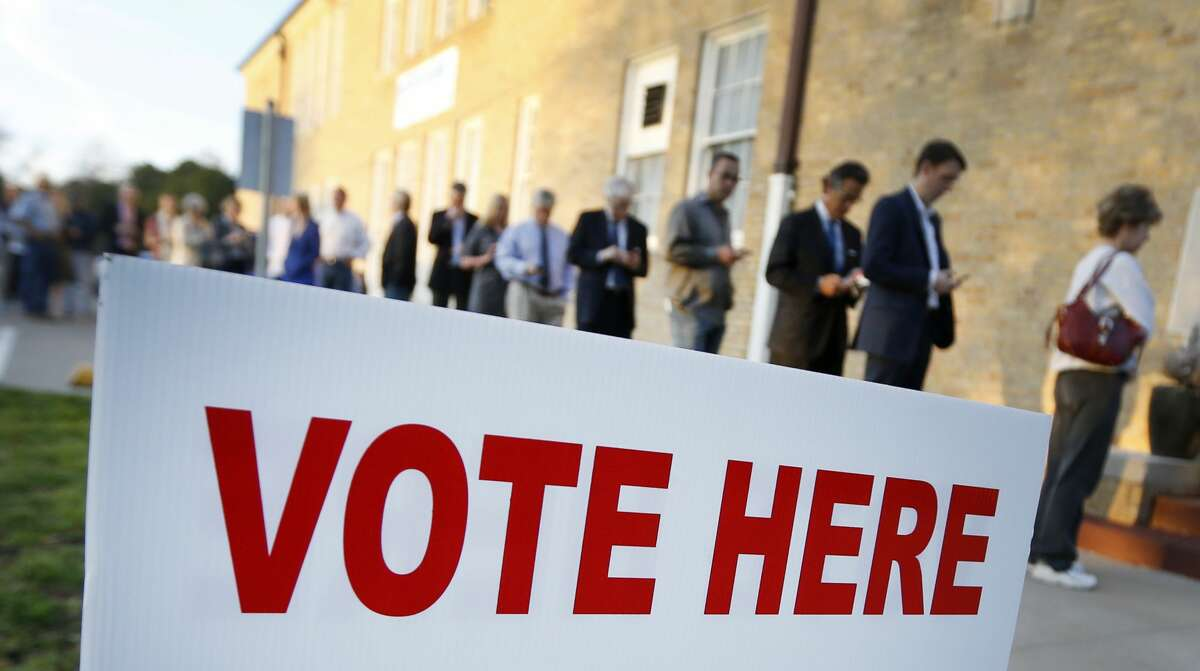 Voters line up to cast their ballots in Fort Worth, Texas, in this file photo from 2016.
