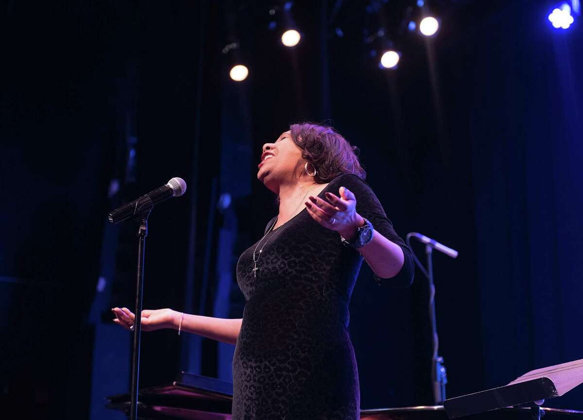 Kimberly Wilson sang His Eye is On The Sparrow at a celebration of Dr. Martin Luther King on Monday, Jan. 20, 2020 at the Ridgefield Playhouse in Ridgefield, Conn. Kimberly Wilson sang His Eye is On The Sparrow at a celebration of Dr. Martin Luther King on Monday, Jan. 20, 2020 at the Ridgefield Playhouse in Ridgefield, Conn.