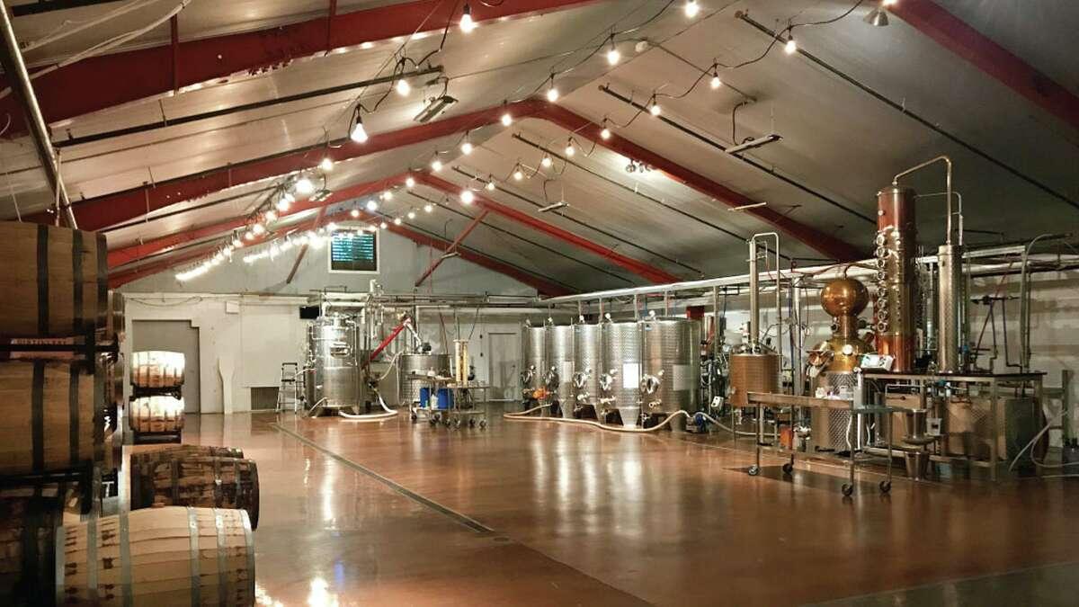 The interior of Litchfield Distillery.