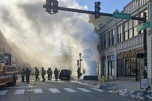 An underground transformer fire has closed North Main Street on Tuesday, Jan. 21, 2020.