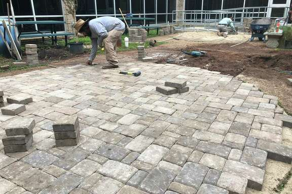 When Ashford Elementary School received an F rating from the Texas Education Agency in summer 2019, shocked parents, educators and community members leaders wanted to do something. Since then, they have been making improvements to the school, including this atrium, which is the first thing students see in the mornings. This is the work in progress.