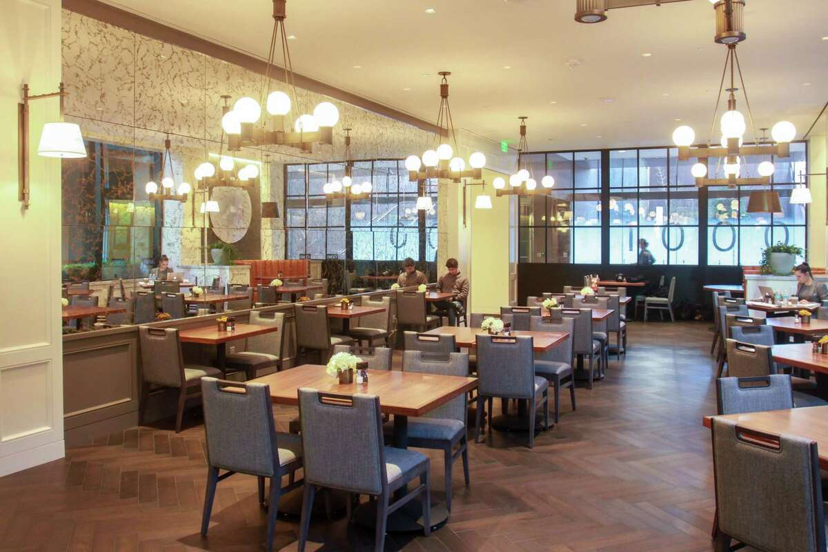 The main dining room of Adair Downtown, a new restaurant in Wells Fargo Plaza, 1000 Louisiana.