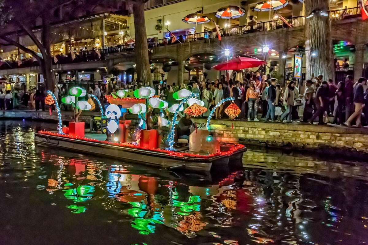 San Antonio Riverwalk Lanterns on the Water