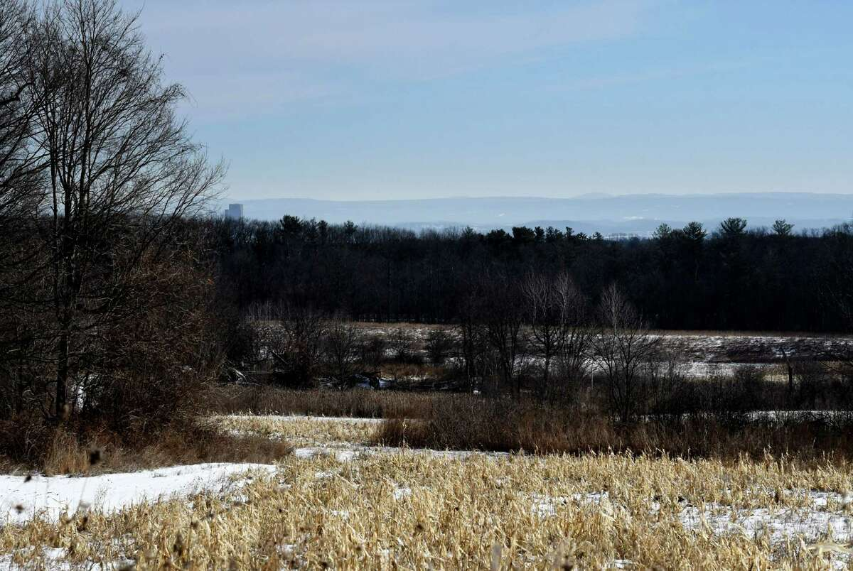 View of the 198-acre Bender melon farm site looking east on Tuesday, Jan. 21, 2020, on Route 85A in New Scotland, N.Y. (Will Waldron/Times Union)