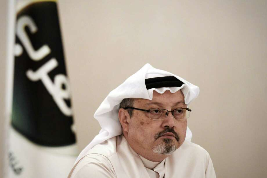 In this file photo taken on December 15, 2014, Jamal Khashoggi, looks on during a press conference in the Bahraini capital Manama. Photo: Getty Images / AFP or licensors