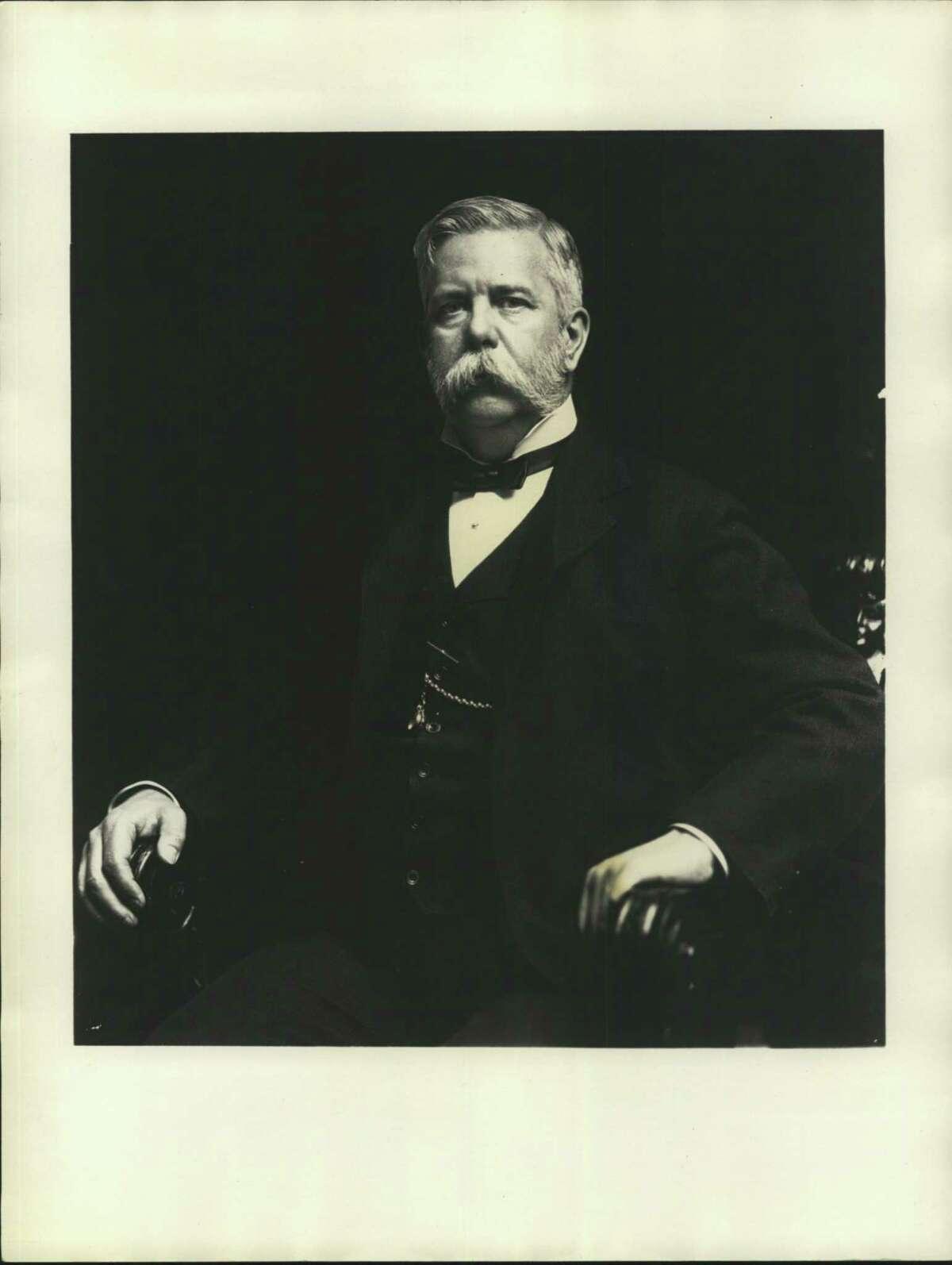 Westinghouse, George. Entrepreneur George Westinghouse in black suit and ribbon tie.
