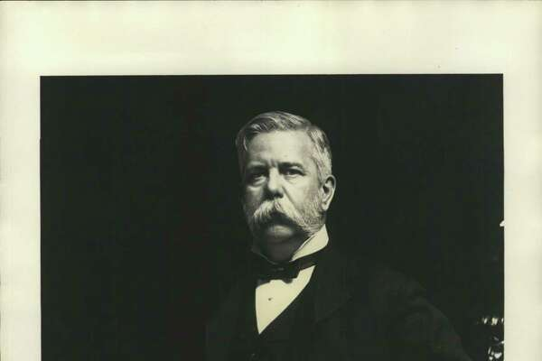 Westinghouse, George. Entrepreneur George Westinghouse in black suit and ribbon tie.