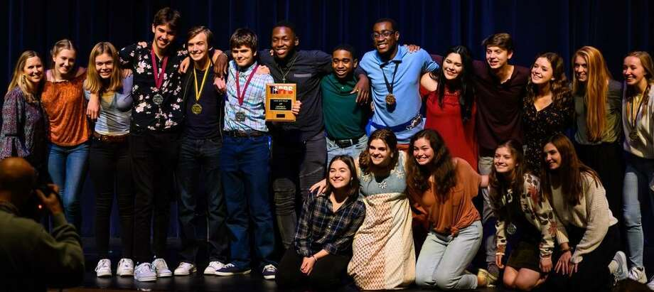 "The cast and crew of Fort Bend Christian Academy's ""The Diviners"" are the Texas Association of Private and Parochial Schools 2019 One-Act District Champion. Photo: Fort Bend Christian Academy / Fort Bend Christian Academy"