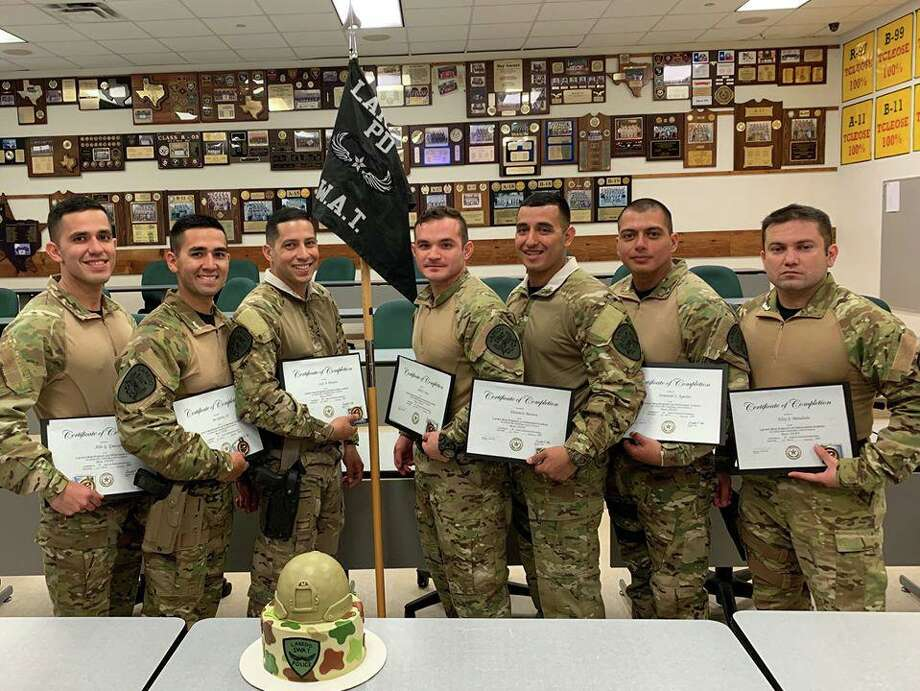 The Laredo Police Department welcomed seven officers to its SWAT team. Authorities said the officers underwent critical thinking scenarios and techniques in a 60-hour course hosted by Laredo College and taught by the LPD SWAT. Photo: Courtesy Photo /Laredo Police Department