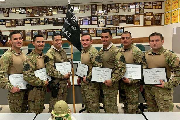 The Laredo Police Department welcomed seven officers to its SWAT team. Authorities said the officers underwent critical thinking scenarios and techniques in a 60-hour course hosted by Laredo College and taught by the LPD SWAT.