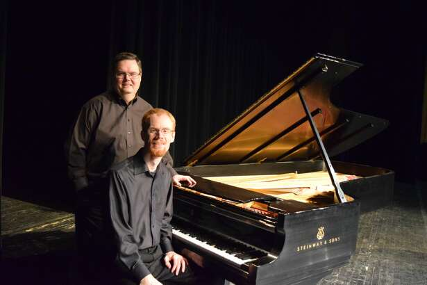 Richard Fountain (sitting) and Kennith Freeman will perform on Friday at Harral Memorial Auditorium as part of the Jubilee Season celebrations of Plainview Community Concerts.