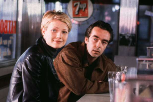 "The blonde version of Gwyneth Paltrow hangs out with John Hannah in the romantic comedy ""Sliding Doors,"" which has been reissued by Shout! Factory."