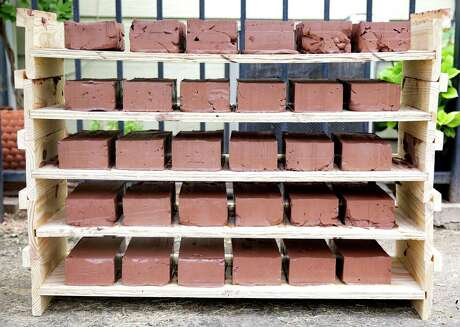 When bricks are heated in a kiln, approximately one pound of carbon released into the atmosphere per brick.
