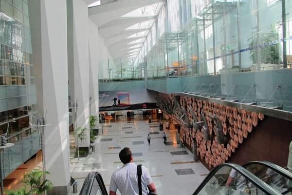 The soaring international terminal at Delhi's Indira Gandhi International Airport-- fly there for just $673 round trip