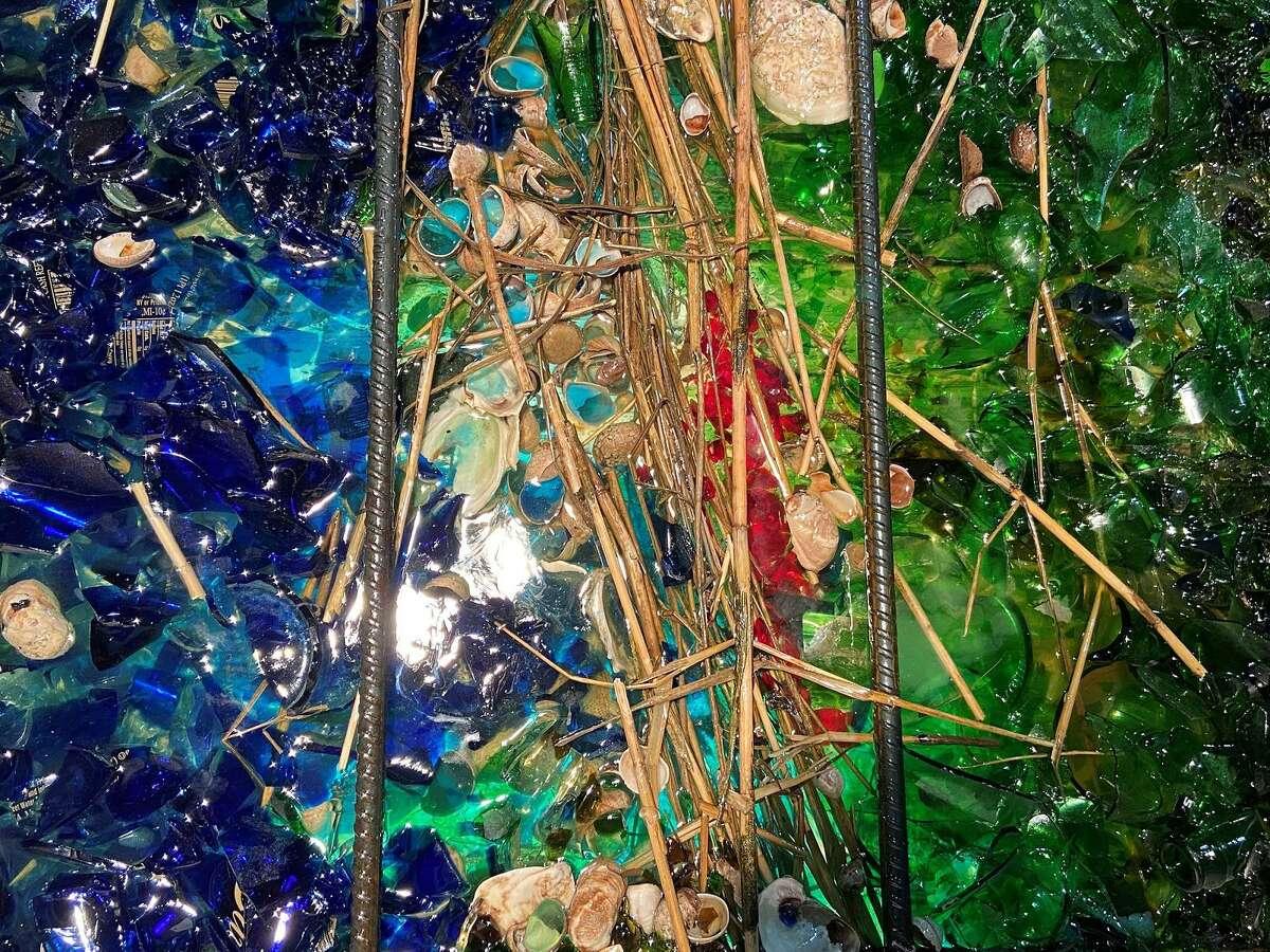 Details of cast glass sculptures created by Rachel Owens.