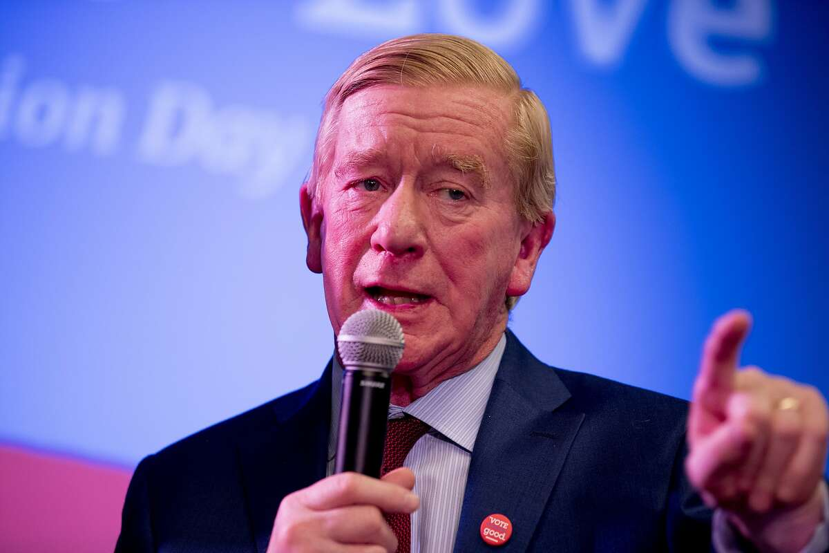 Republican presidential candidate former Massachusetts Gov. Bill Weld speaks at a the Faith, Politics and the Common Good Forum at Franklin Jr. High School, Thursday, Jan. 9, 2020, in Des Moines, Iowa. (AP Photo/Andrew Harnik)