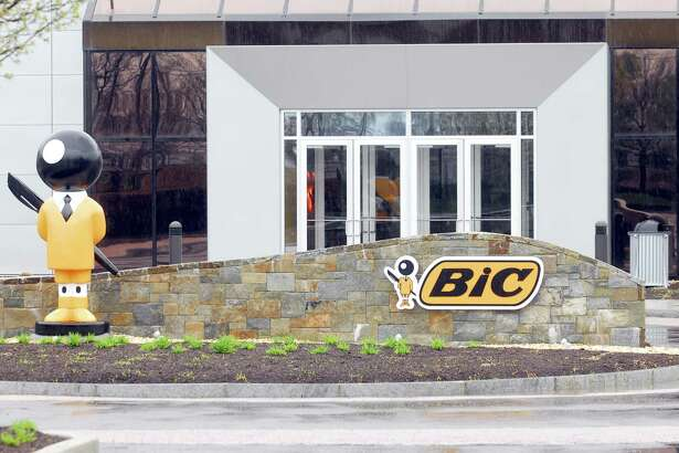 Photography by PETER HVIZDAK ph1049 #6316 Shelton, Connecticut - 4/22/09: Front entrance to BIC USA Inc., a two-story building at 1 Research Drive in Shelton.