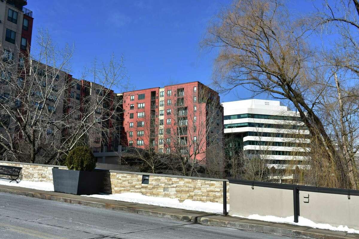 The Merritt River Apartments at 399 Main Ave. in Norwalk, Conn., in January 2020.