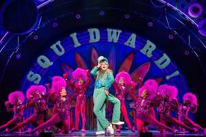 "Cody Cooley olays Squidward Q. Tentacles in ""The SpongeBob Musical,"" which is coming to the Majestic Theatre."