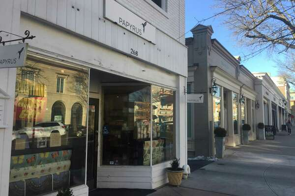 All Papyrus stores will be closing, including this one at 268 Greenwich Ave., in Greenwich, Conn.