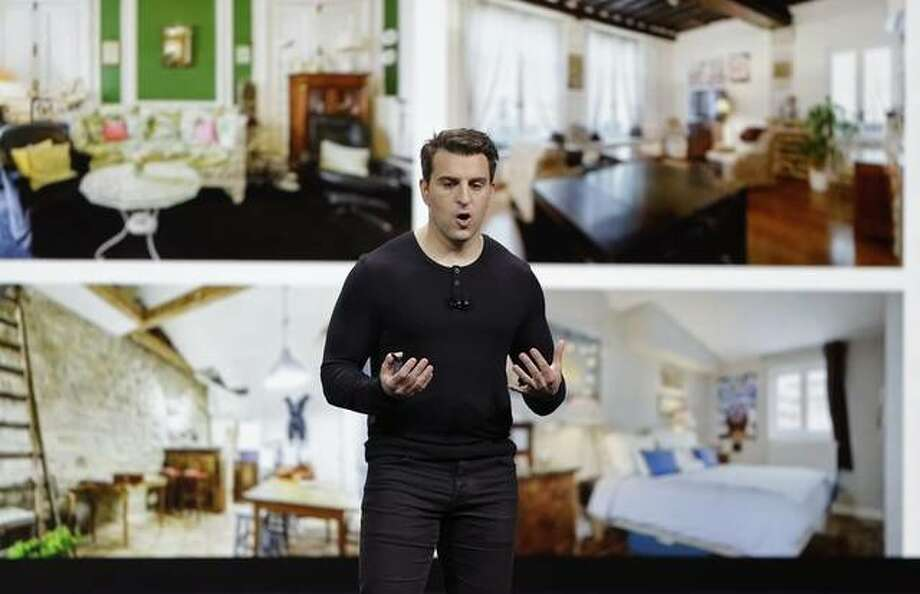 Airbnb co-founder and CEO Brian Chesky speaks during an event Thursday, Feb. 22, 2018, in San Francisco. Photo: AP Photo/Eric Risberg