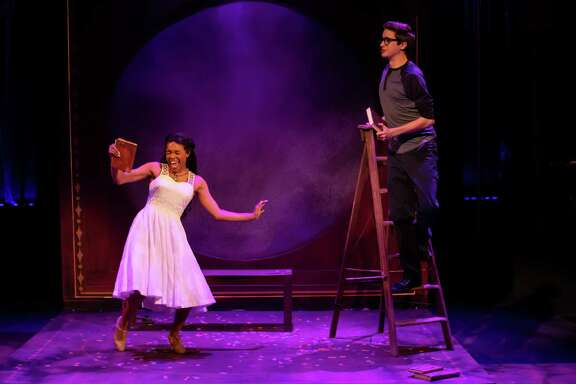 "Kiaya Scott and Tyler Hecht in Stages' production of ""The Fantasticks"""