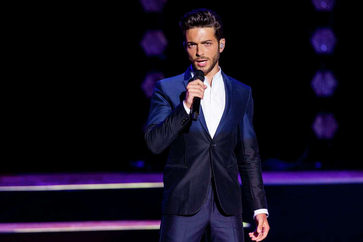 Gianluca Ginoble of the group Il Volo performs at Auditorium Parco Della Musica in Rome.