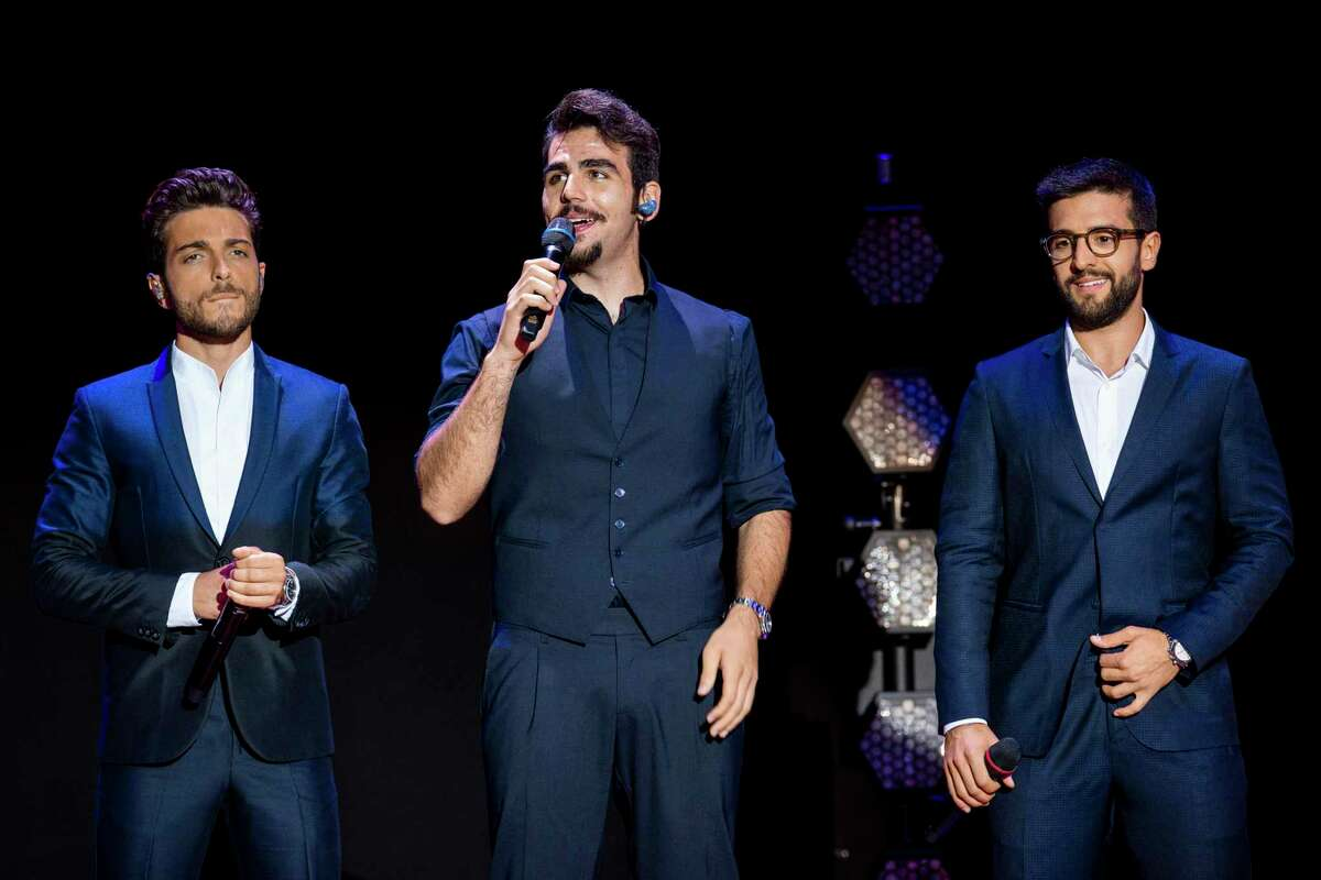 From left, Gianluca Ginoble, Piero Barone and Ignazio Boschetto of the group Il Volo at an Italian concert last year.