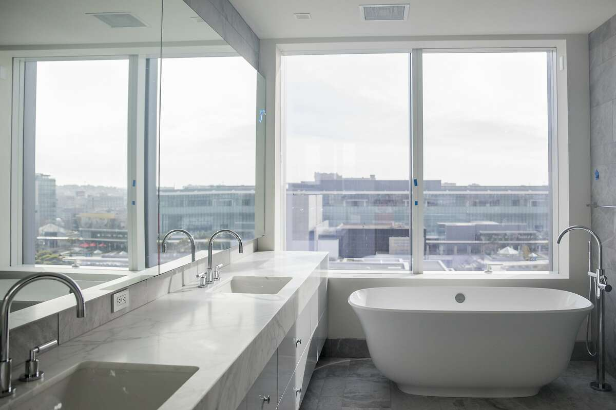 A master bathroom is seen inside a partially complete apartment at the Four Seasons Private Residence 706 Mission in San Francisco, Calif. Friday, December 20, 2019.