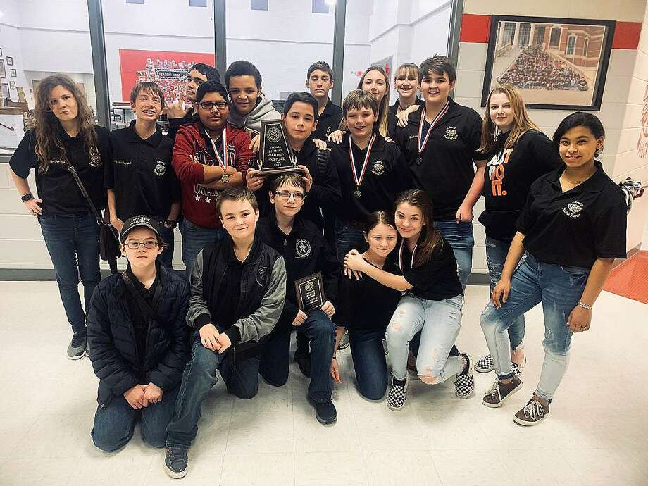 The LMS Panther Players finished second place, runner-up, in the District 21-4A Middle Schoool One Act Play competition. The Players also garnered numerous individual awards. Photo: Submitted
