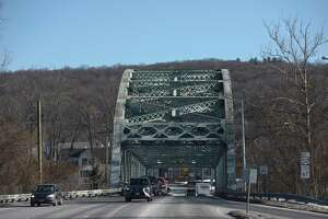 Veterans Bridge in New Milford is structurally deficient and the DOT will be rehabbing it over the course of the year. Tuesday, January 20, 2020, in New Milford, Conn. Looking towards downtown from Route 7.