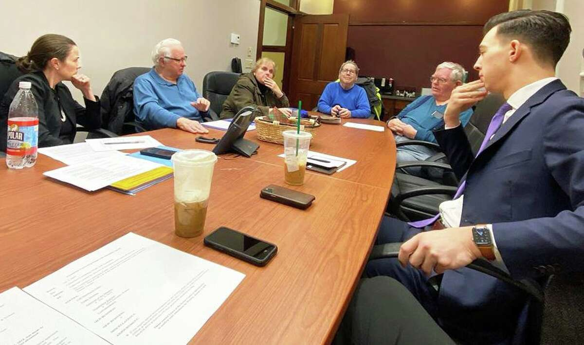 Middletown Mayor Ben Florsheim has been meeting with members of city boards and commissions in an effort to get to know issues they're facing. Here, he's shown at the monthly meeting of the Committee on Persons with Disabilities.