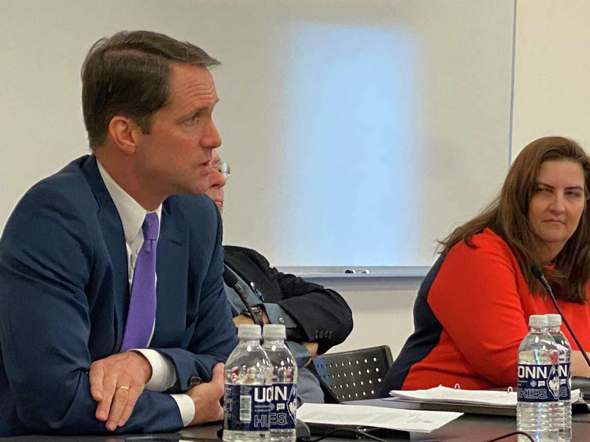 Congressman Jim Himes hosted a forum in Stamford Tuesday on the 10th anniversary of Citizens United.