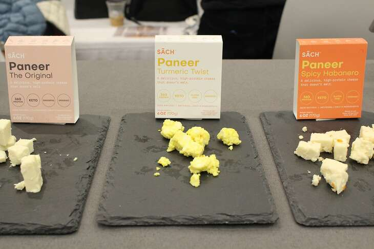 San Francisco organic paneer company Sach Foods set out samples of three flavors of paneer at the Winter Fancy Food Show.