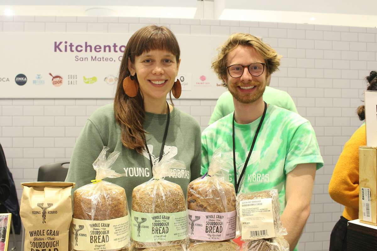 Juliana Lopker (left) and Geoff Kober own Young Kobras, a gluten-free bread company in San Francisco that was part of the Winter Fancy Food Show.