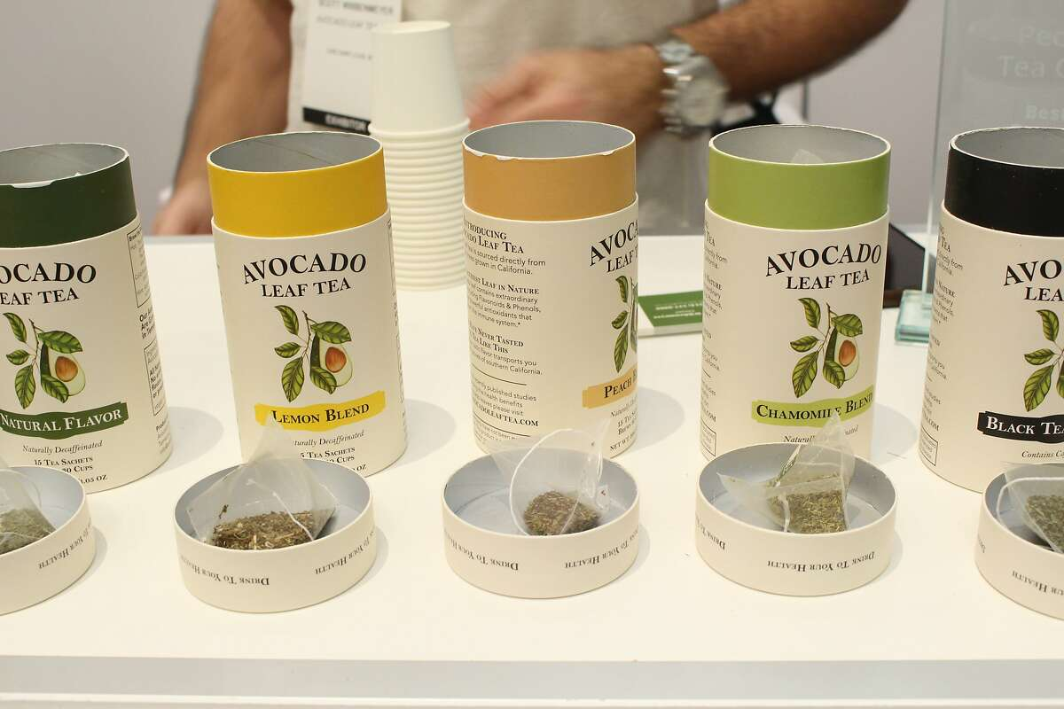 Avocado Tea Co. makes tea using avocado leaves, as shown at the Winter Fancy Food Show in San Francisco.