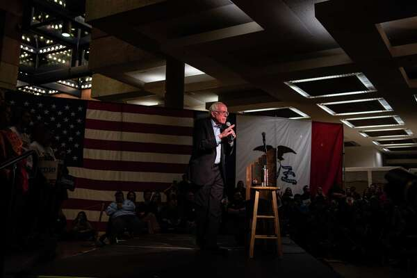 Sen. Bernie Sanders, I-Vt., 2020 speaks during a rally at the State Historical Museum of Iowa on Monday, Jan. 20, 2020, in Des Moines.