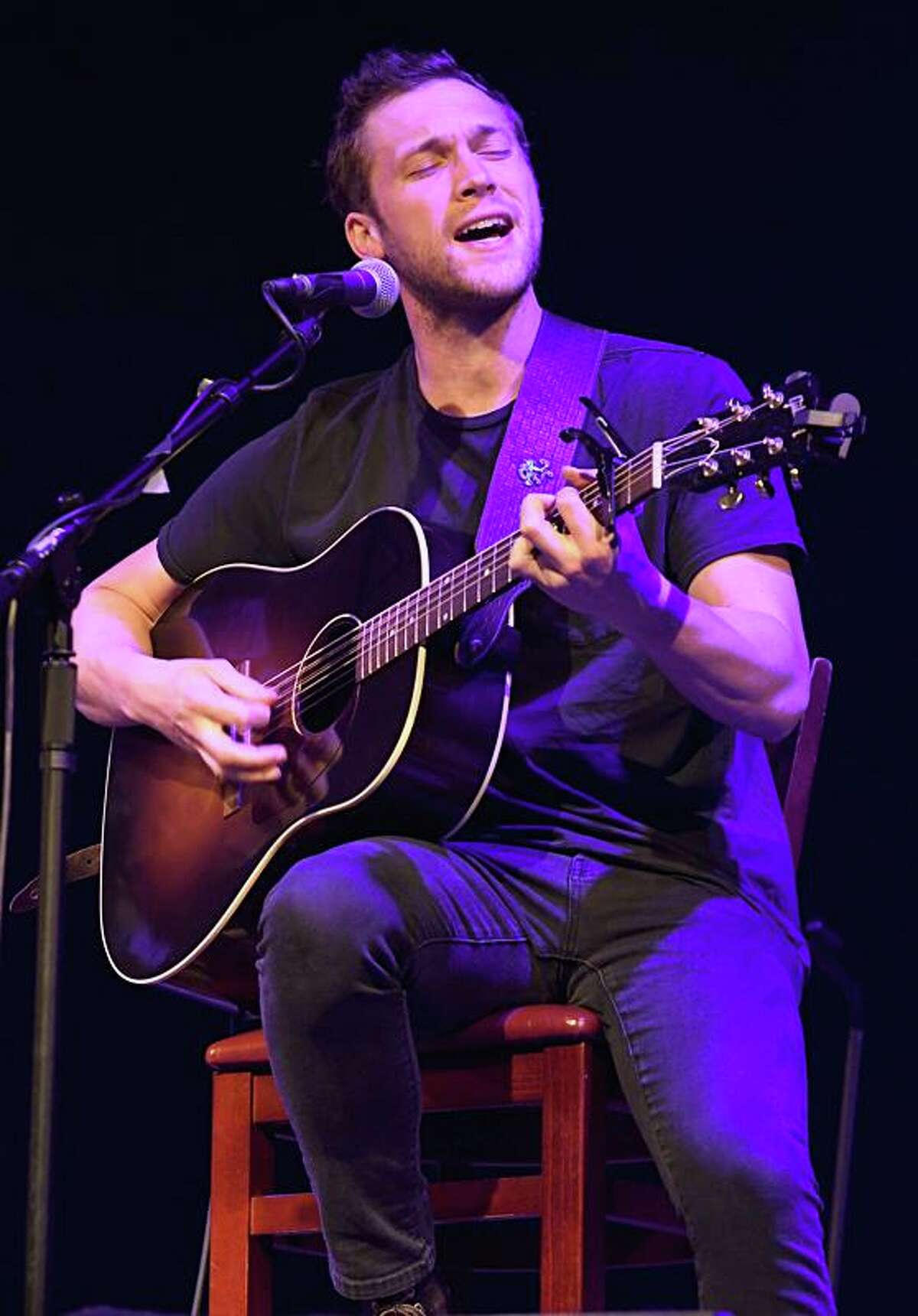 Singer, songwriter and actor Phillip Phillips is shown performing on stage at the Infinity Music Hall in Hartford on Jan. 18, 2020. Phillip is best known for winning the eleventh season of American Idol back in 2012. His coronation song,