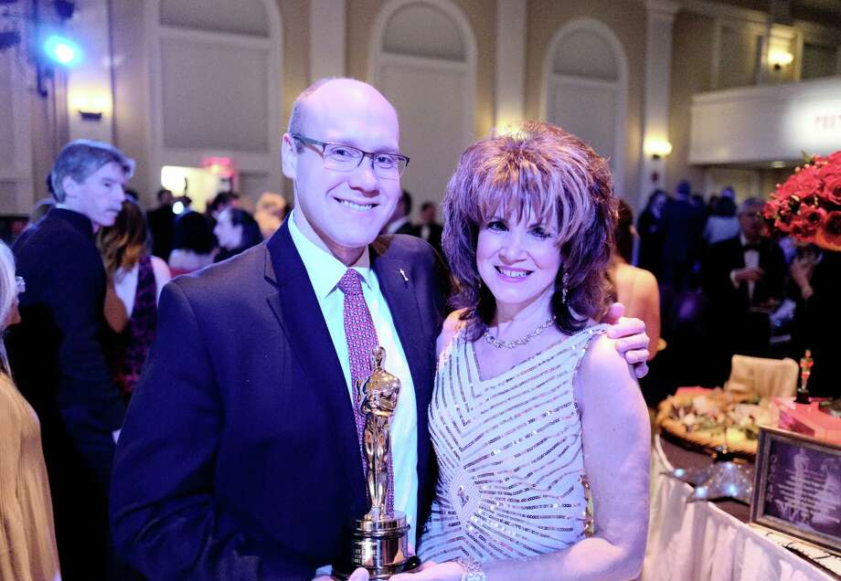 State Rep. Devin Carney is the Oscar Party's emcee, and Debra Mals, event décor chair. Photo: Contributed Photo