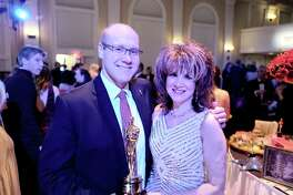State Rep. Devin Carney is the Oscar Party's emcee, and Debra Mals, event décor chair.
