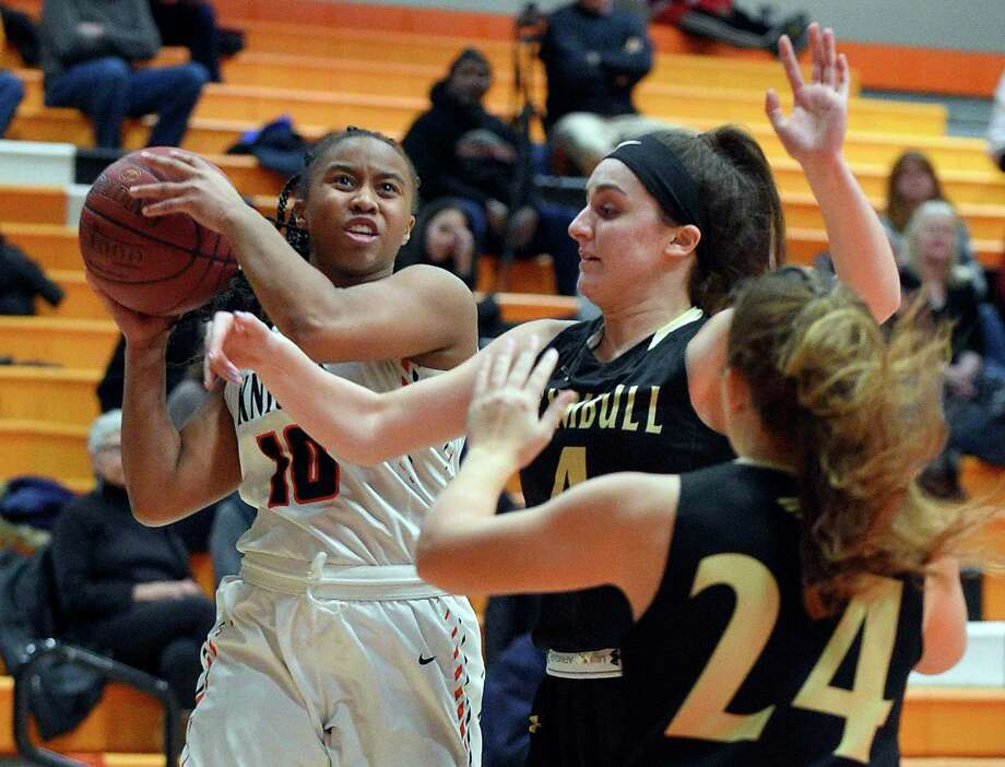 Trumbull defeated Stamford 46-41 in an FCIAC girls basketball game on Jan. 21, 2020 in Stamford, Connecticut. Photo: Matthew Brown / Hearst Connecticut Media / Stamford Advocate