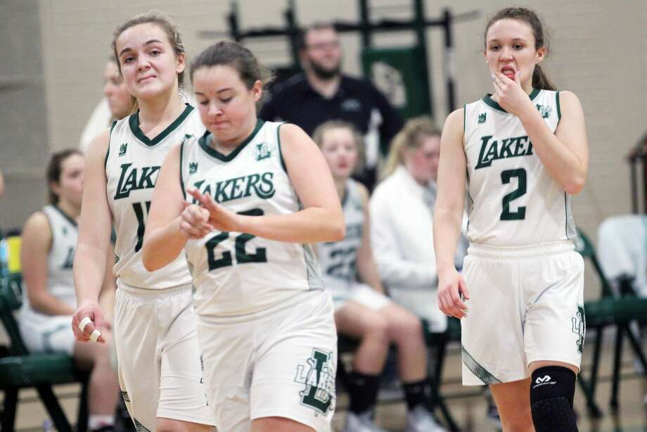 The Laker girls basketball team picked up its first win of the season, beating Vassar 33-31 on Thursday night. Photo: Mark Birdsall/Huron Daily Tribune