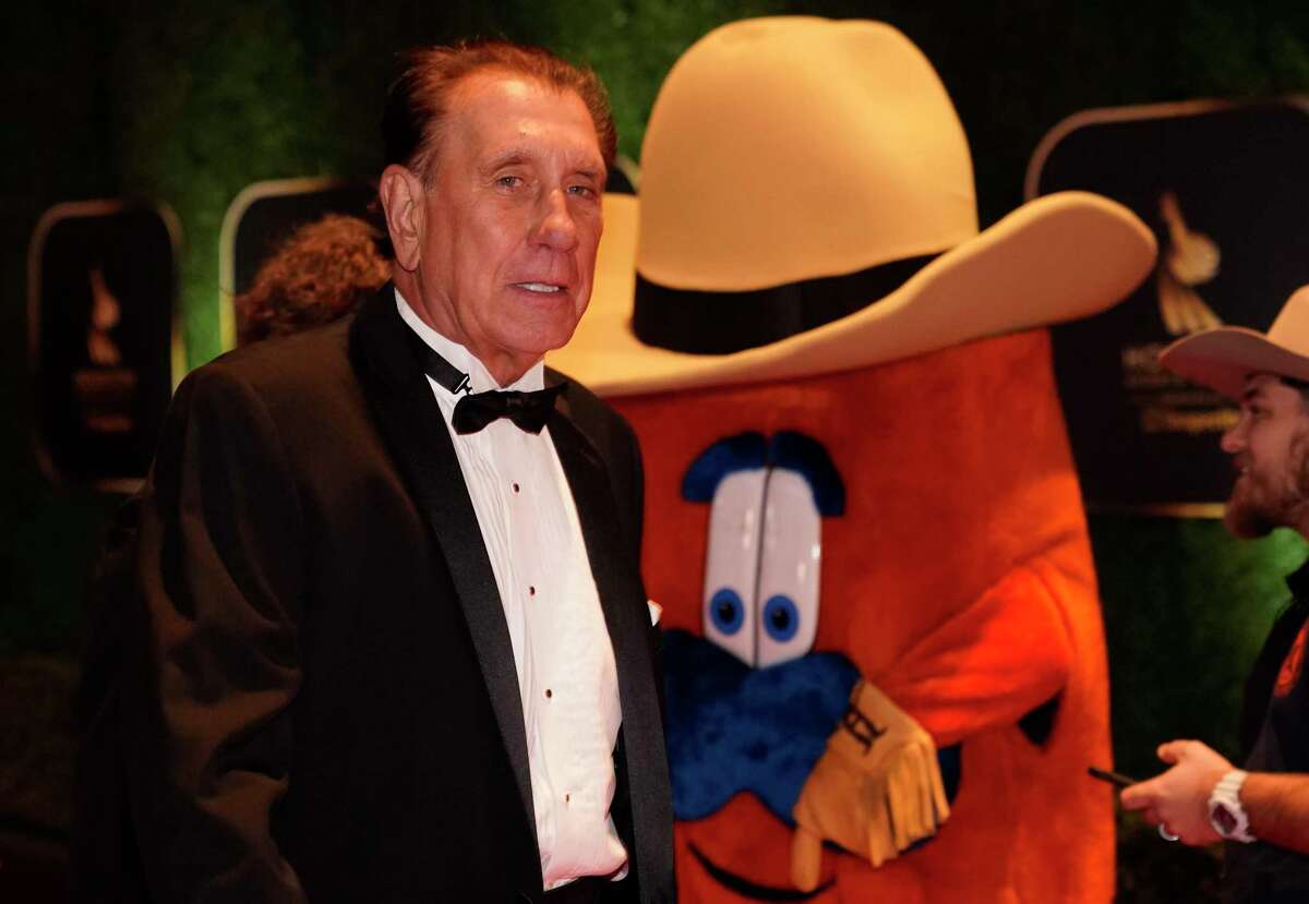 Rudy Tomjanovich, former Houston Rockets player and coach, walks the red carpet at the 3rd Annual Houston Sports Awards Tuesday, Jan. 21, 2020, Hilton Americas, 1600 Lamar St., in Houston. Tomjanovich is a member of the Houston Sports Hall of Fame Class of 2020.
