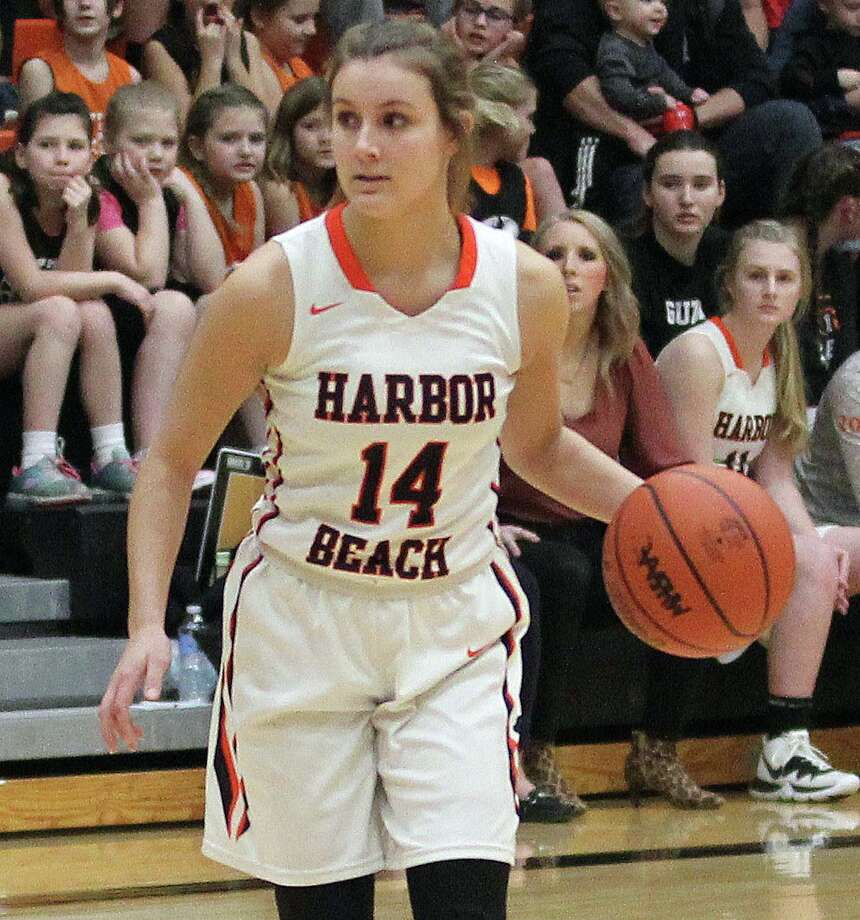 Claire Woodke and the Harbor Beach girls basketball team blew out visiting Capac 65-11 on Tuesday, Jan. 21, 2020. Woodke led the Pirates with 17 points. Photo: Tribune File Photo